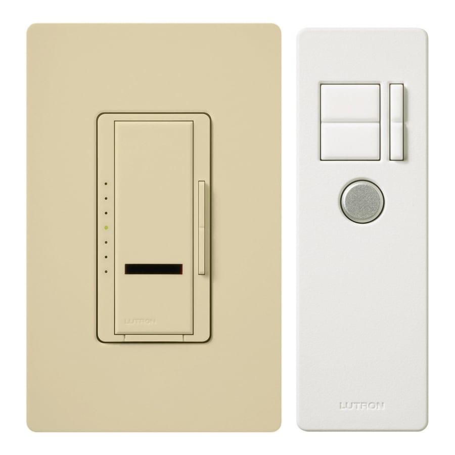 Lutron Maestro IR 600-watt Single Pole 3-way Wireless Ivory Remote Control Indoor Dimmer