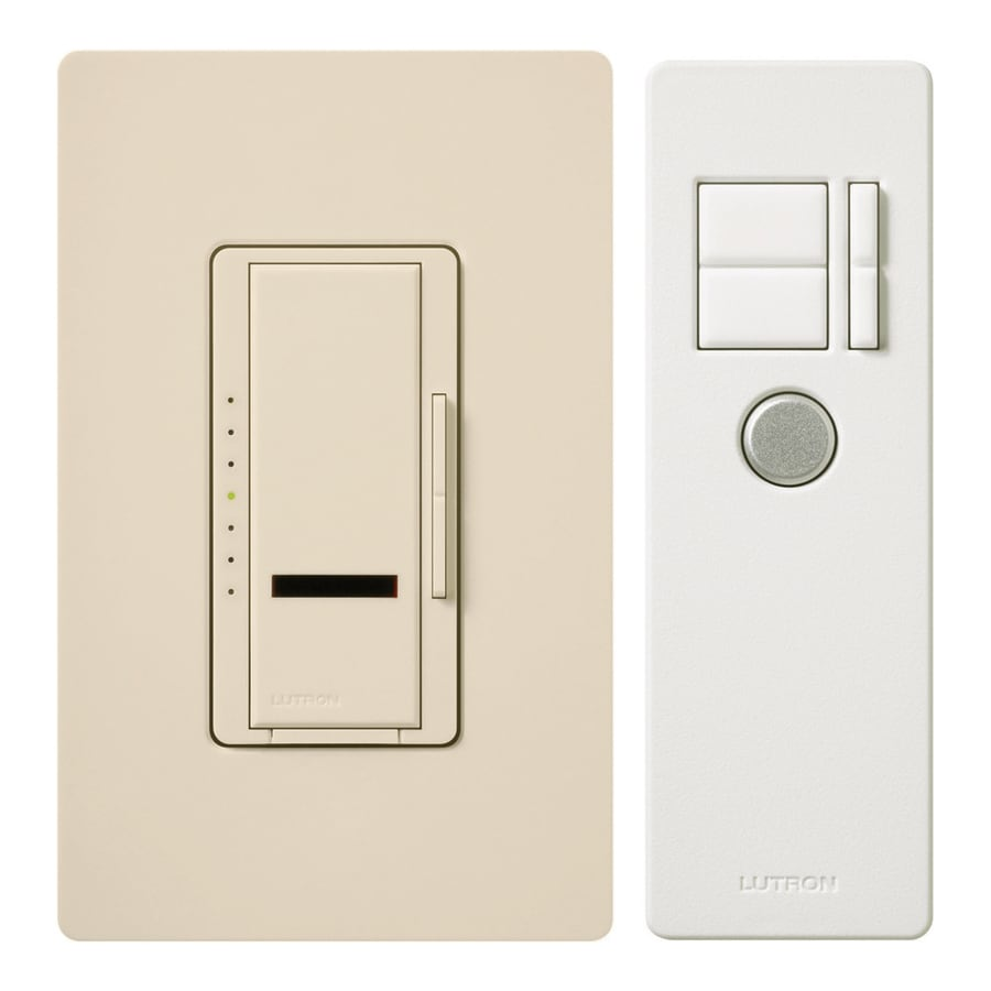 Lutron Maestro IR 5-Amp 600-Watt Light Almond 3-Way Digital Dimmer with Remote
