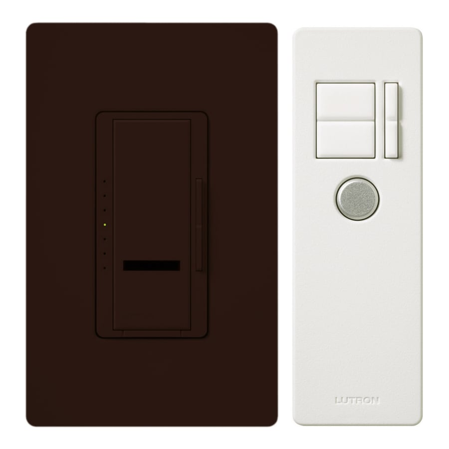 Lutron Maestro IR 600-Watt Single Pole 3-Way Wireless Brown Indoor Remote Control Dimmer