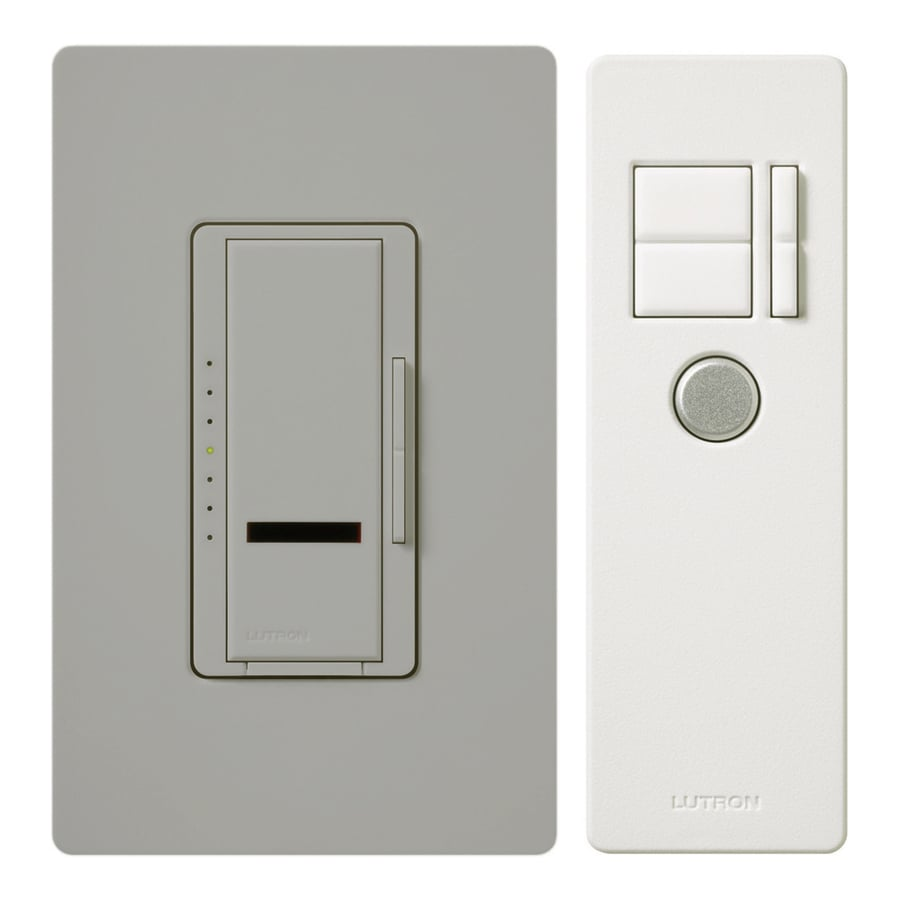 Lutron Maestro IR 600-Watt Single Pole 3-Way Wireless Gray Remote Control Indoor Dimmer