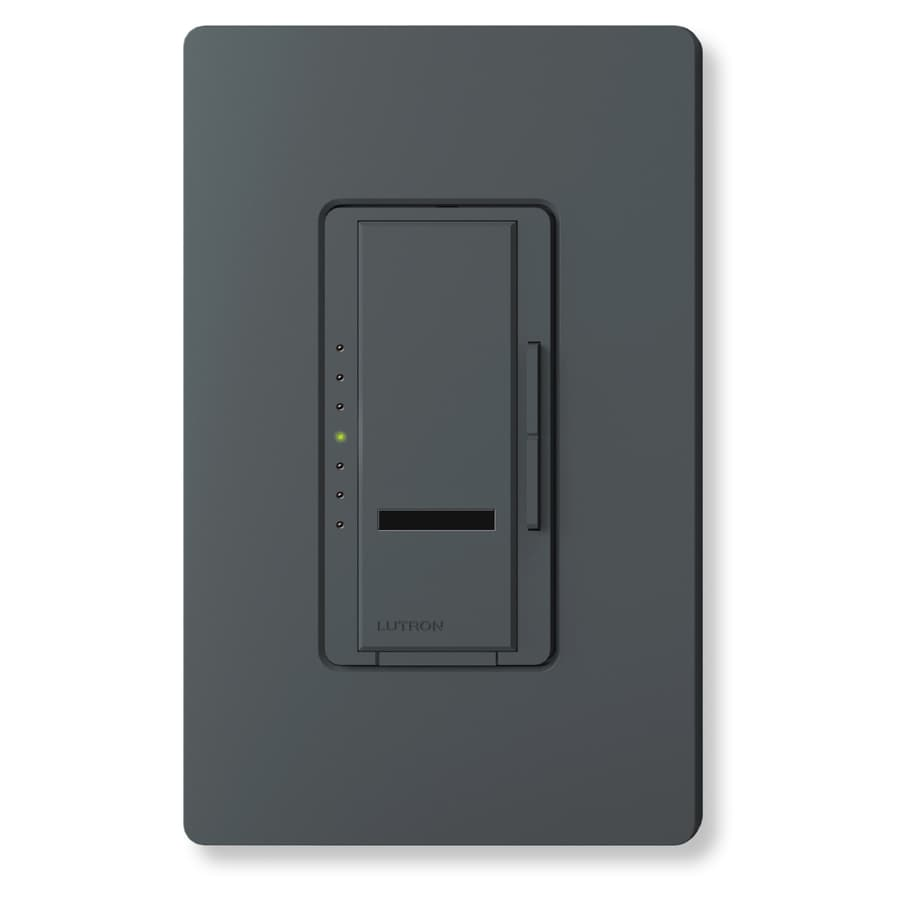 Lutron Maestro IR 600-Watt Single Pole Wireless Midnight Indoor Touch Dimmer