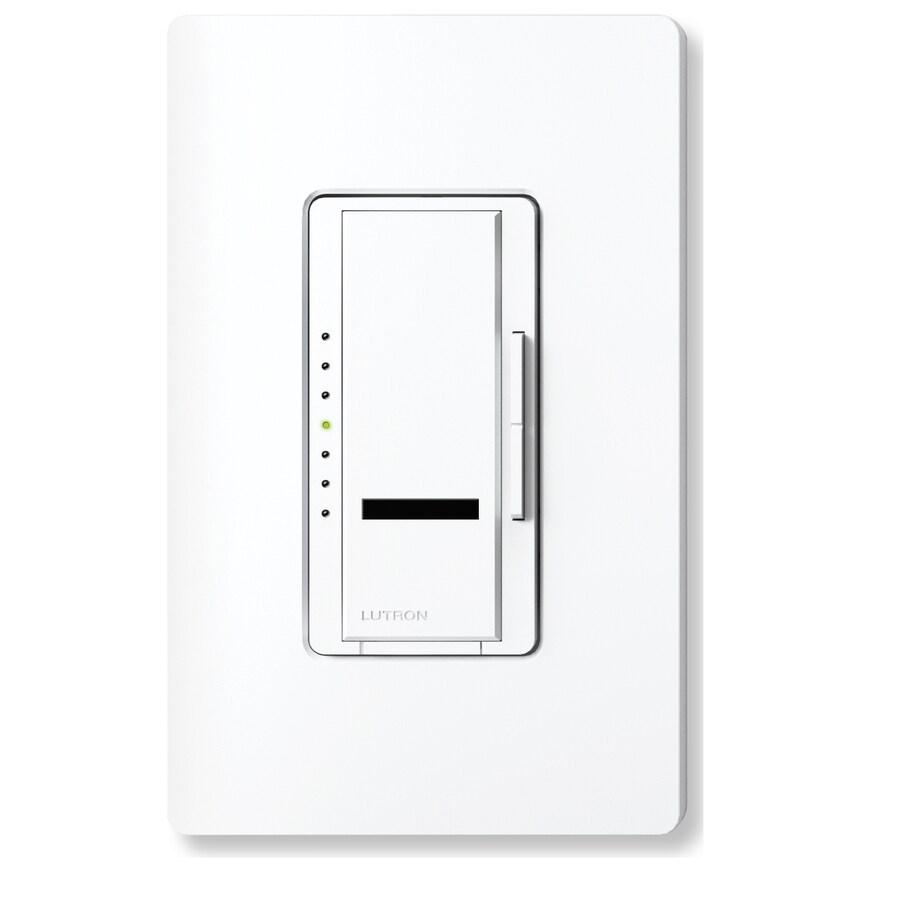 Lutron Maestro IR 600-Watt Single Pole Wireless Snow Indoor Remote Control Dimmer