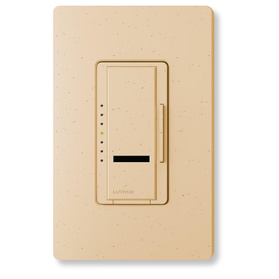 Lutron Maestro IR 1,000-Watt Single Pole Wireless Desert Stone Indoor Remote Control Dimmer