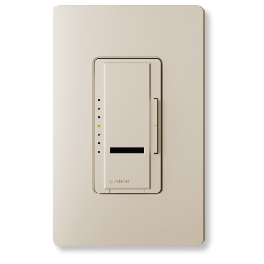Lutron Maestro IR 450-Watt Single Pole Wireless Taupe Indoor Remote Control Dimmer
