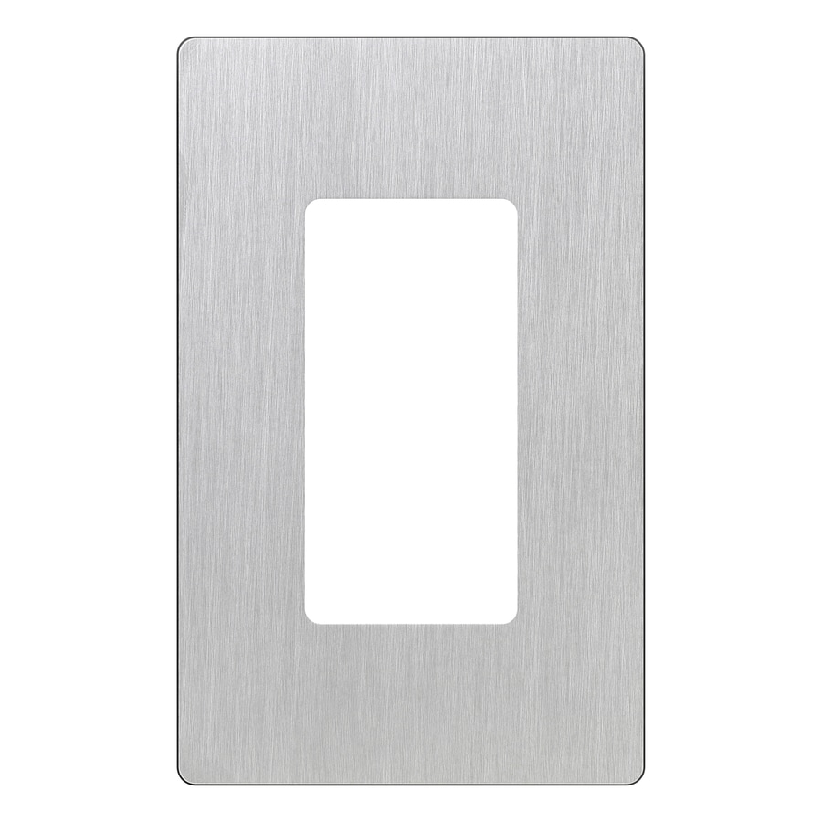 Lutron Claro 1-Gang Stainless Steel Decorator Rocker Metal Wall Plate