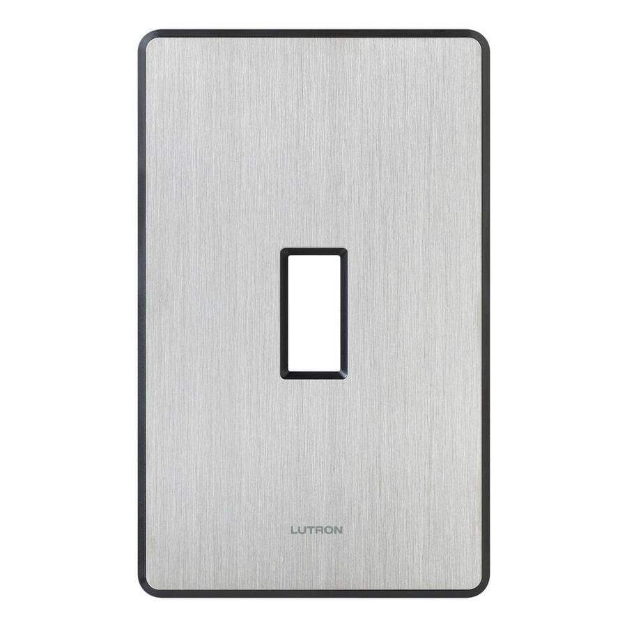 Lutron Fassada 1-Gang Stainless Steel Single Toggle Wall Plate