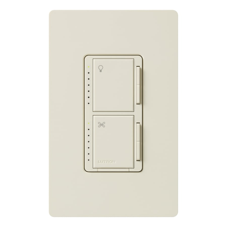 Lutron Maestro 300-Watt Single Pole Light Almond Indoor Touch Combination Dimmer and Fan Control