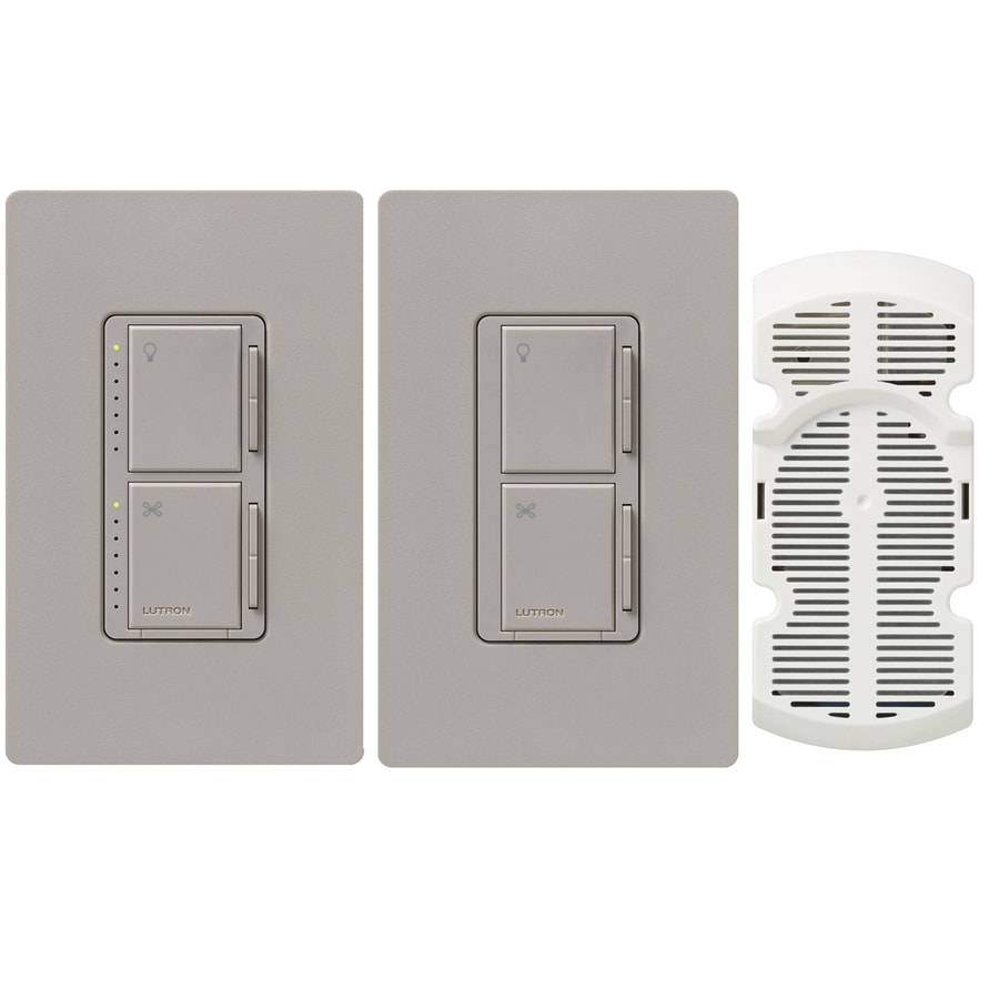 Lutron Maestro 300-watt Single Pole 3-way Taupe Touch Indoor Combination Dimmer And Fan Control