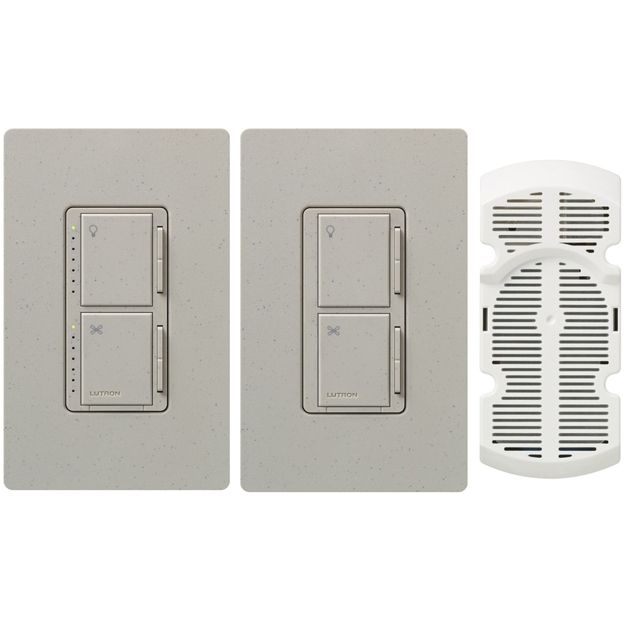 Lutron Maestro 300-Watt Single Pole 3-Way Stone Indoor Touch Combination Dimmer and Fan Control