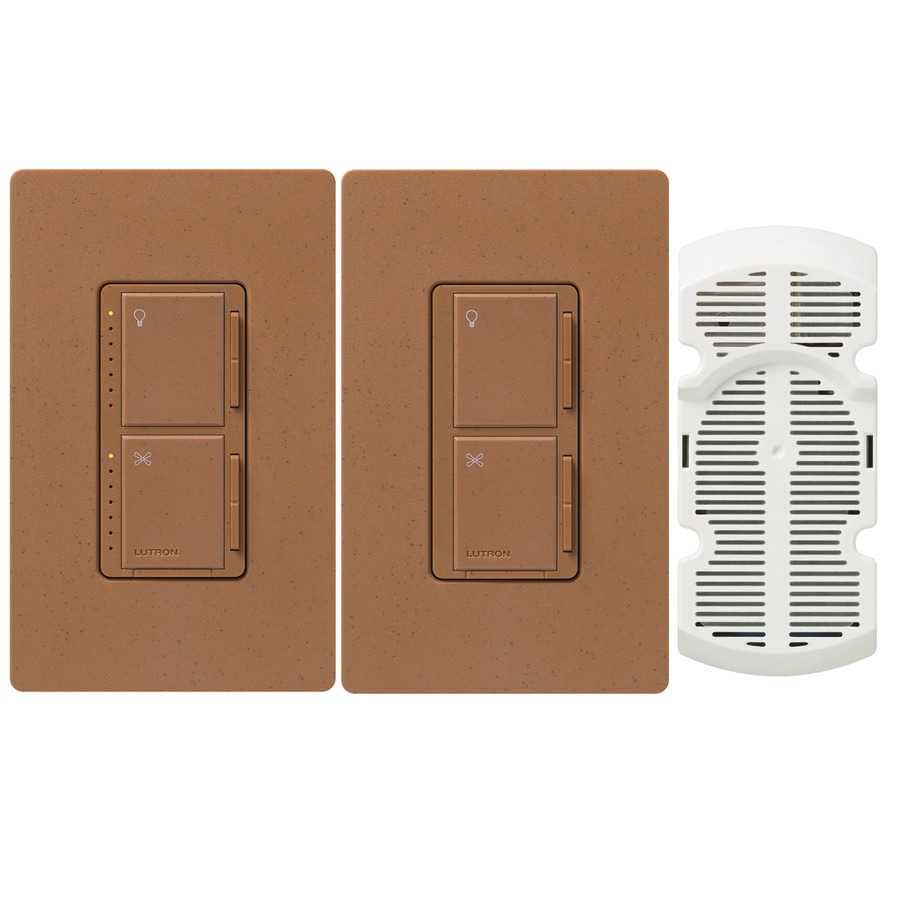 Lutron Maestro 300-Watt Single Pole 3-Way Terracotta Indoor Touch Combination Dimmer and Fan Control