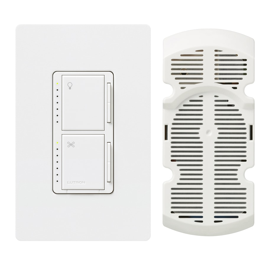 Lutron Maestro 300-Watt Single Pole 3-Way Snow Touch Indoor Combination Dimmer And Fan Control