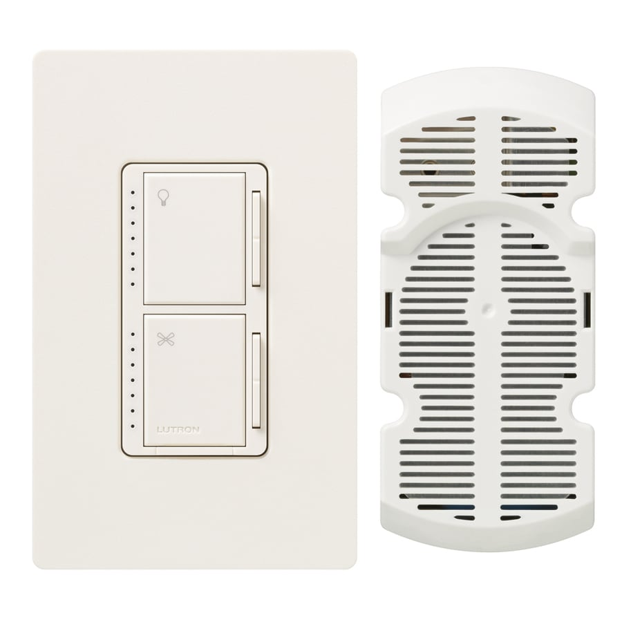 Lutron Maestro 300-watt Single Pole 3-way Biscuit Touch Indoor Combination Dimmer And Fan Control