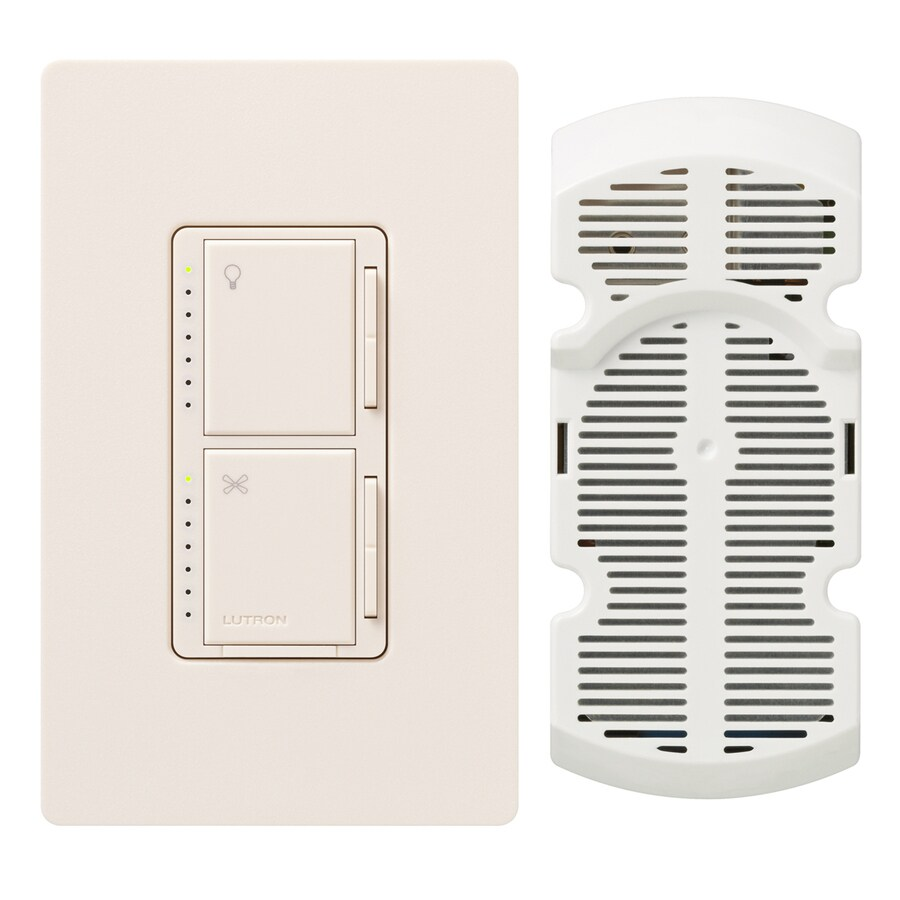 Lutron Maestro 300-watt Single Pole 3-way Eggshell Touch Indoor Combination Dimmer And Fan Control