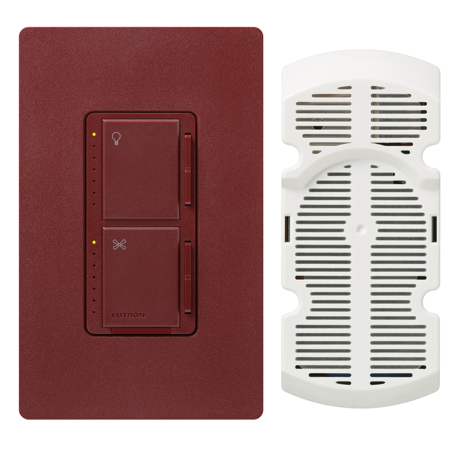 Lutron Maestro 300-Watt Single Pole 3-Way Merlot Touch Indoor Combination Dimmer And Fan Control