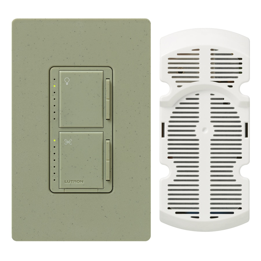 Lutron Maestro 300-Watt Single Pole 3-Way Greenbriar Touch Indoor Combination Dimmer And Fan Control