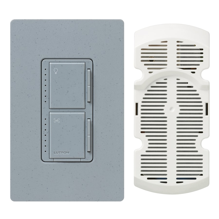 Lutron Maestro 300-Watt Single Pole 3-Way Bluestone Indoor Touch Combination Dimmer and Fan Control