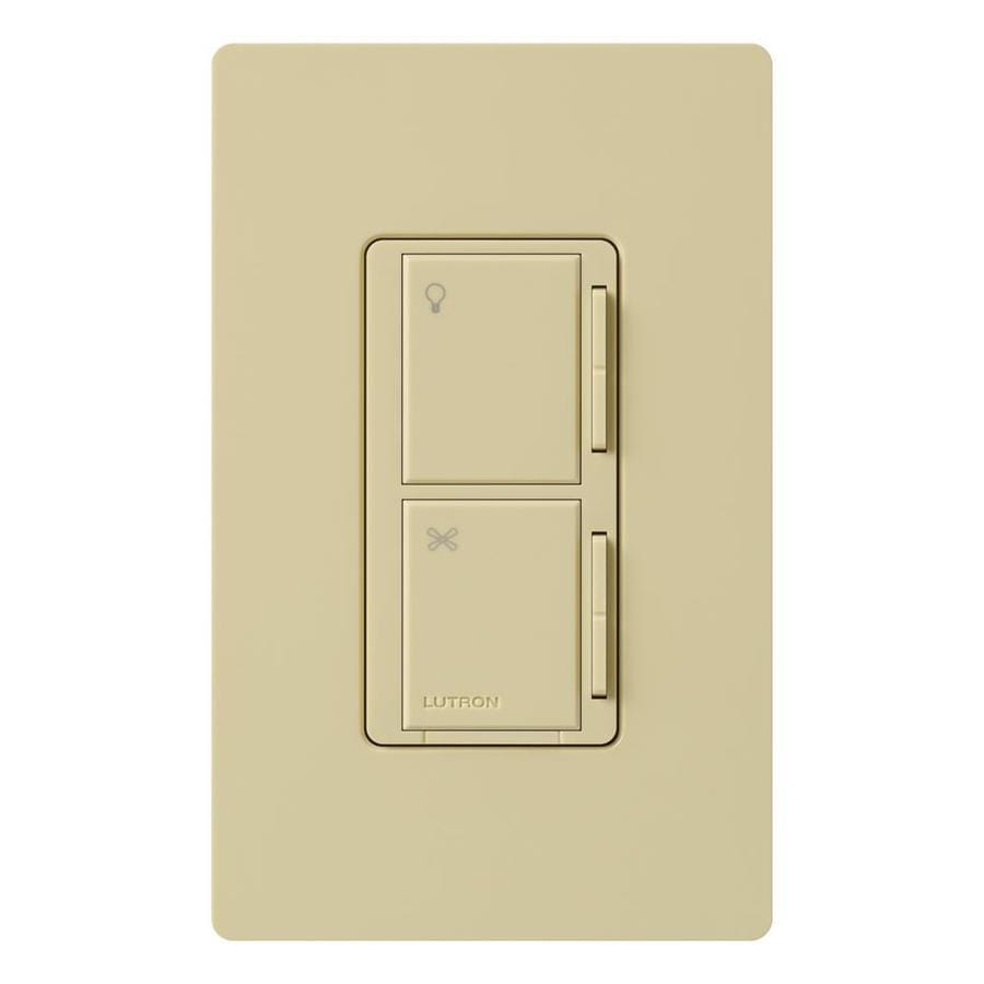 shop lutron maestro 300 watt 3 way 4 way ivory tap indoor combination dimmer. Black Bedroom Furniture Sets. Home Design Ideas