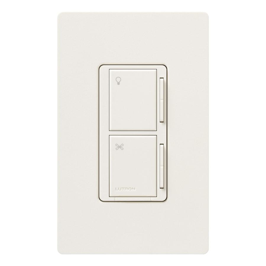 Lutron Maestro  300-watt 3-way/4-way Biscuit Tap Indoor Combination Dimmer And Fan Control