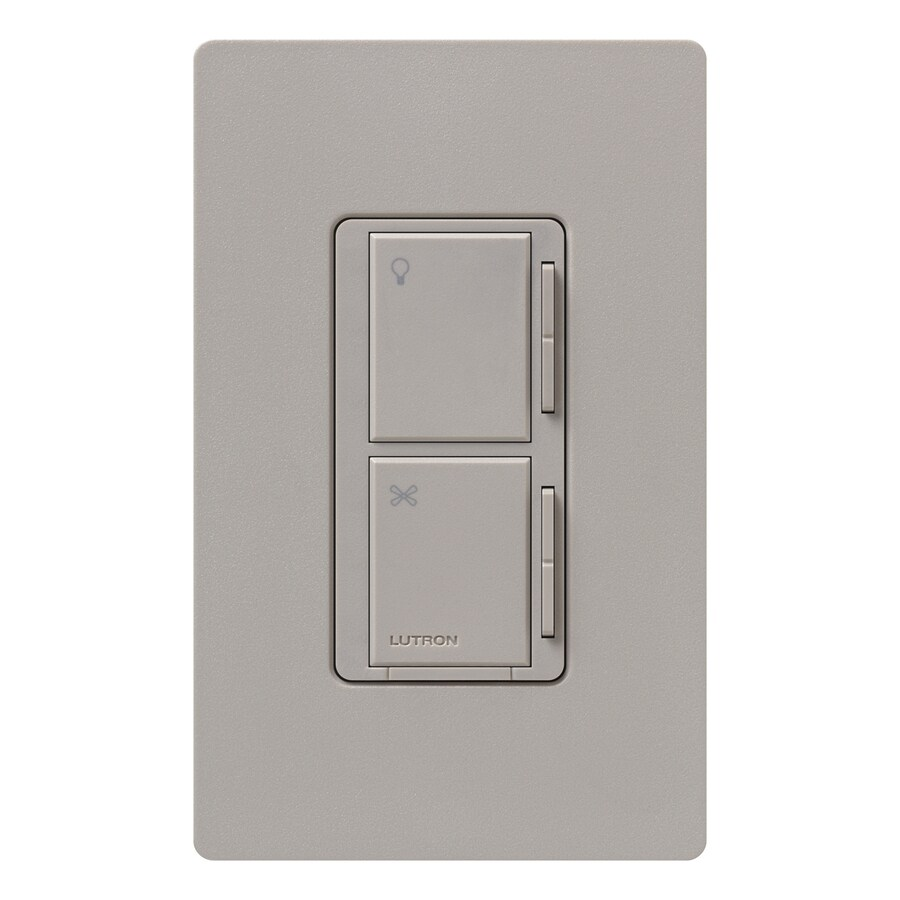 Lutron Maestro 300-Watt 3-Way/4-Way Taupe Indoor Tap Combination Dimmer and Fan Control