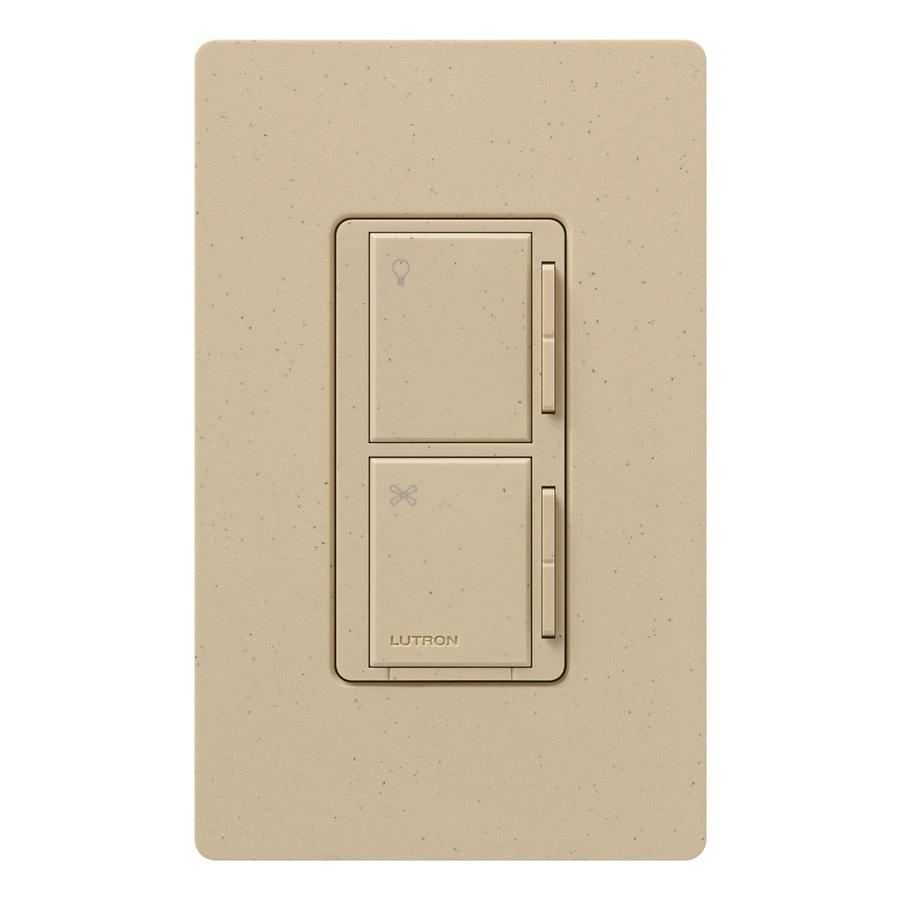 Lutron Maestro 300-Watt 3-Way/4-Way Desert Stone Indoor Tap Combination Dimmer and Fan Control