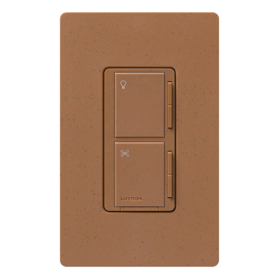 Lutron Maestro 300-Watt 3-Way/4-Way Terracotta Indoor Tap Combination Dimmer and Fan Control