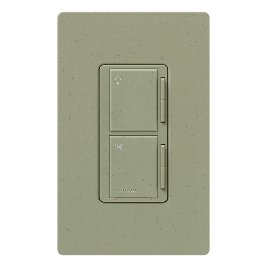 Lutron Maestro 300-Watt 3-Way/4-Way Greenbriar Tap Indoor Combination Dimmer And Fan Control
