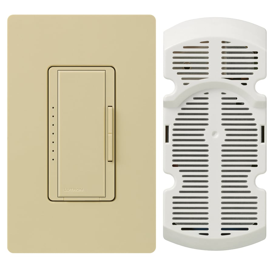 Lutron Maestro 7-Speed 1-Amp Ivory Indoor Rocker Fan Control