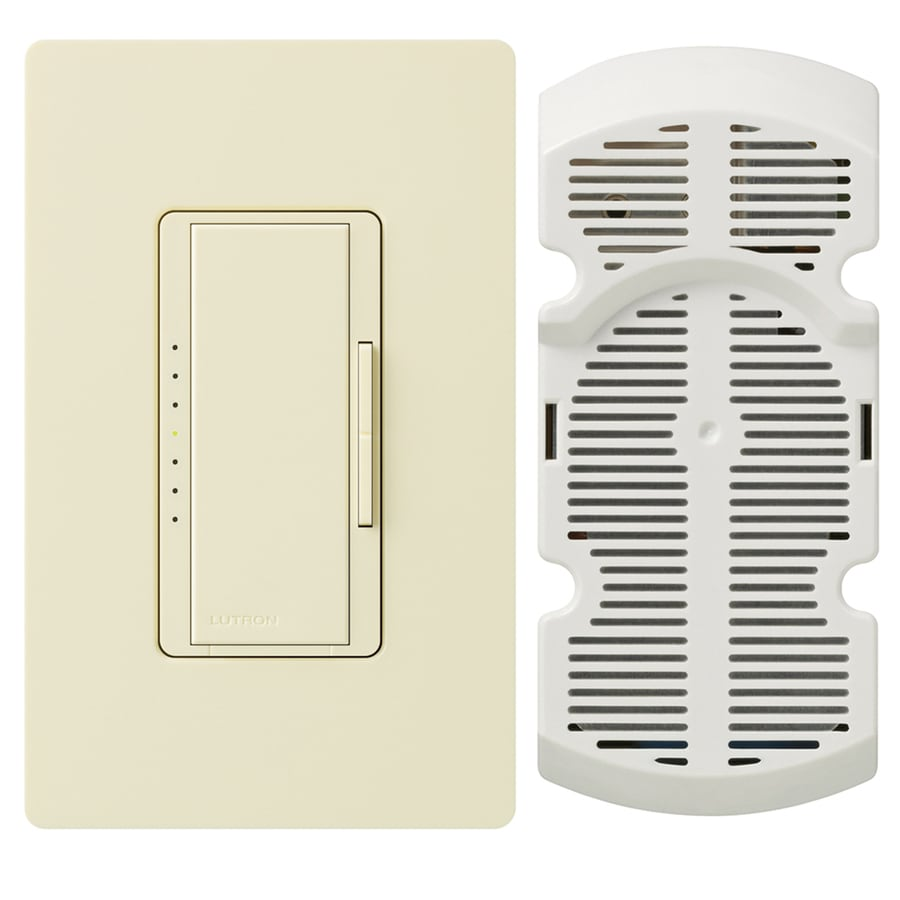 Lutron Maestro 7-Speed 1-Amp Almond Indoor Rocker Fan Control
