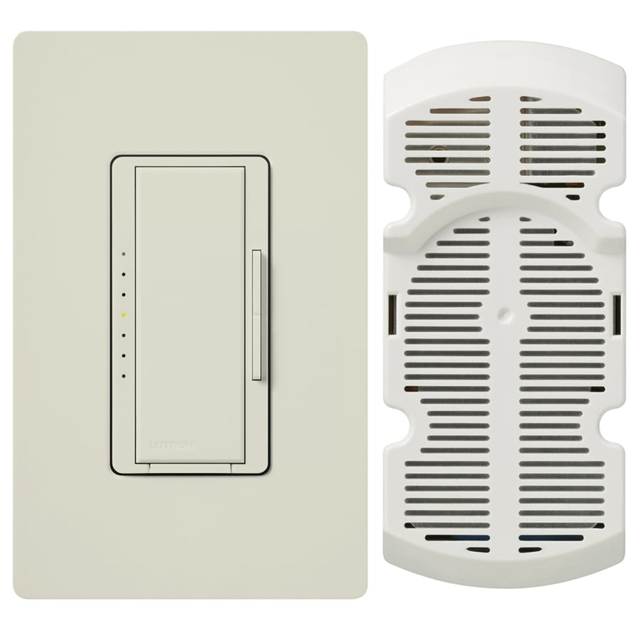 Lutron Maestro 7-Speed 1-Amp Light Almond Indoor Rocker Fan Control