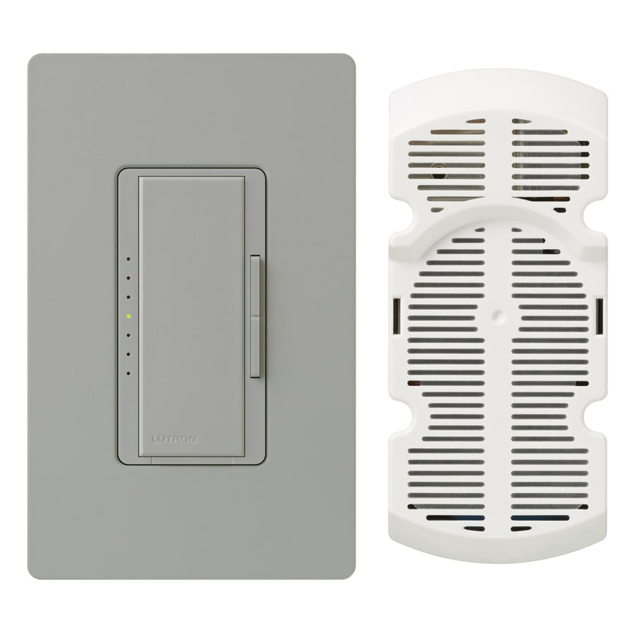 Lutron Maestro 7-Speed 1-Amp Gray Indoor Rocker Fan Control