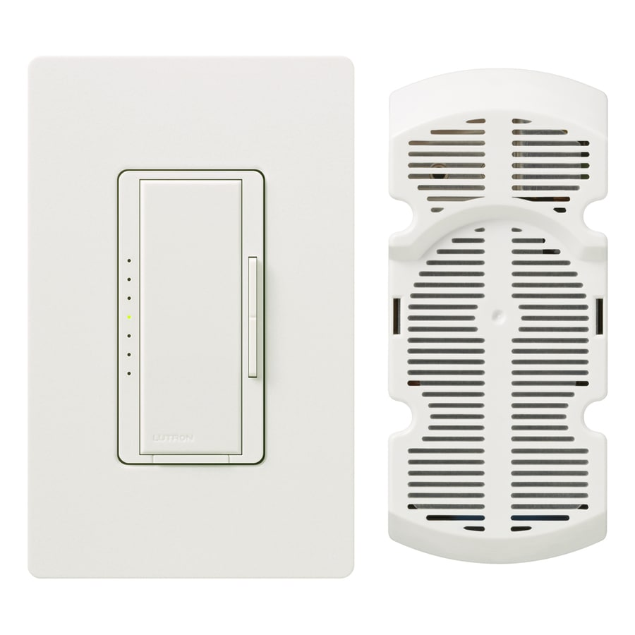 Lutron Maestro 7-Speed 1-Amp Snow Indoor Rocker Fan Control