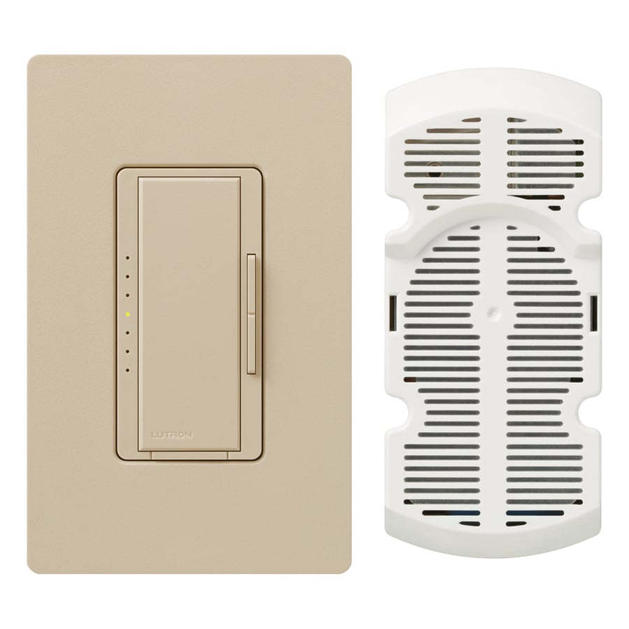 Lutron Maestro 7-Speed 1-Amp Taupe Indoor Rocker Fan Control