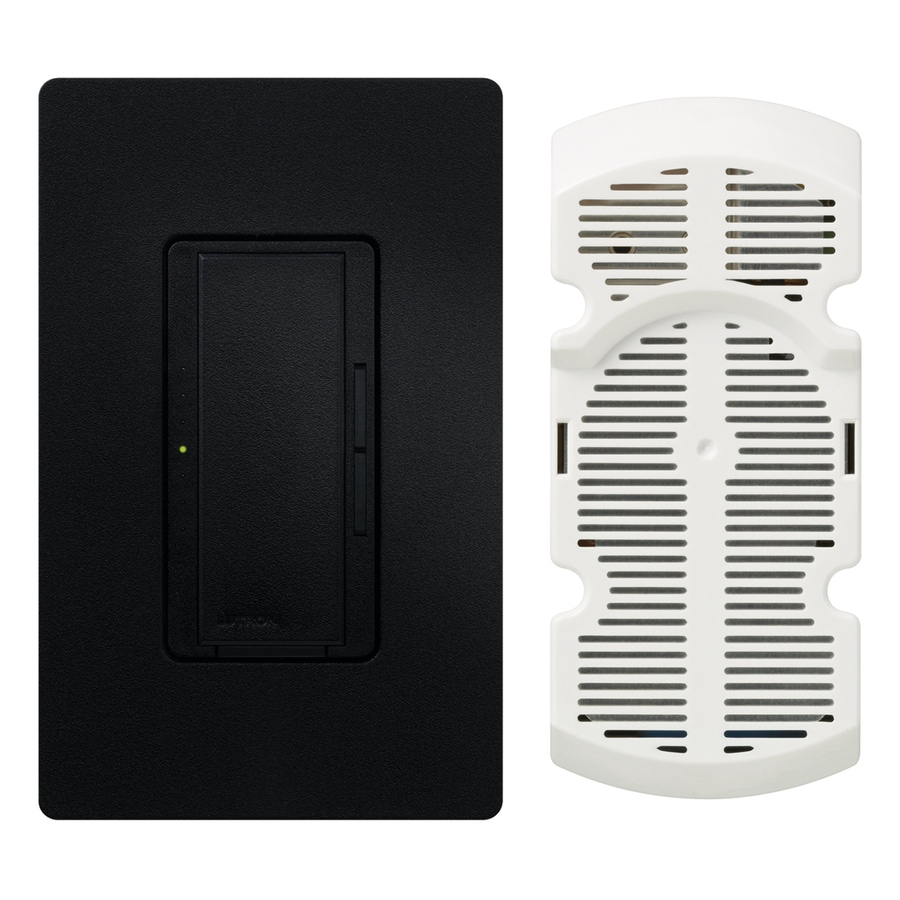 Lutron Maestro 7-Speed 1-Amp Midnight Indoor Rocker Fan Control
