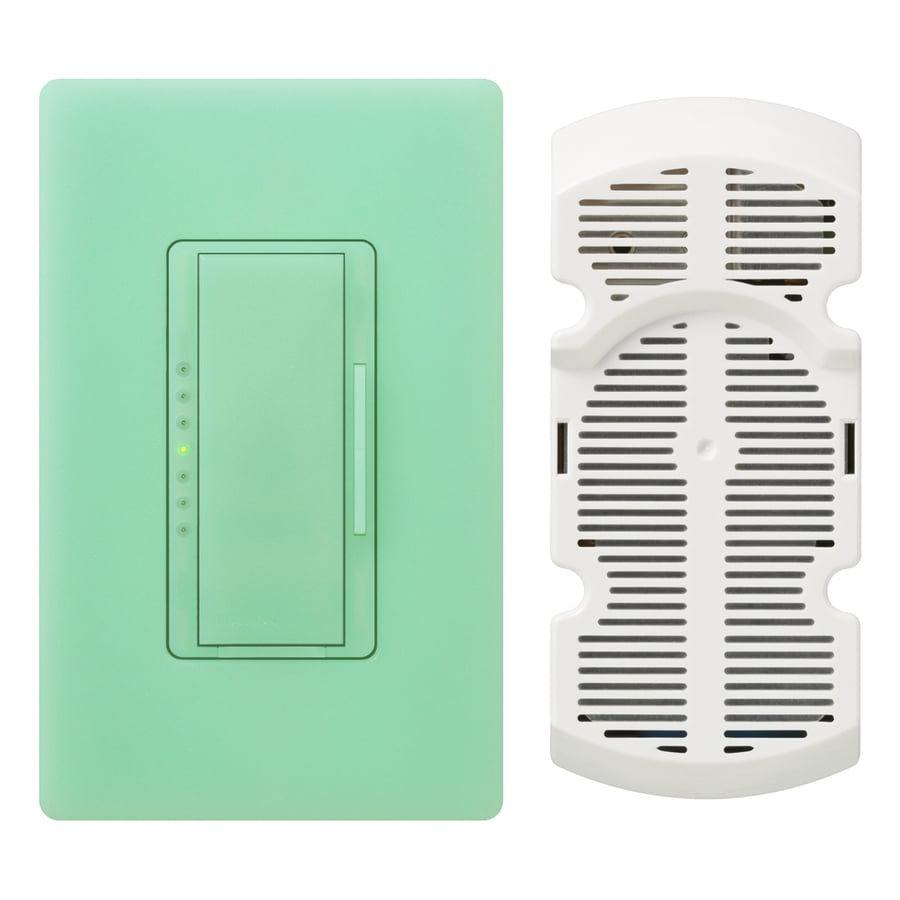 Lutron Maestro 7-Speed 1-Amp Sea Glass Indoor Rocker Fan Control