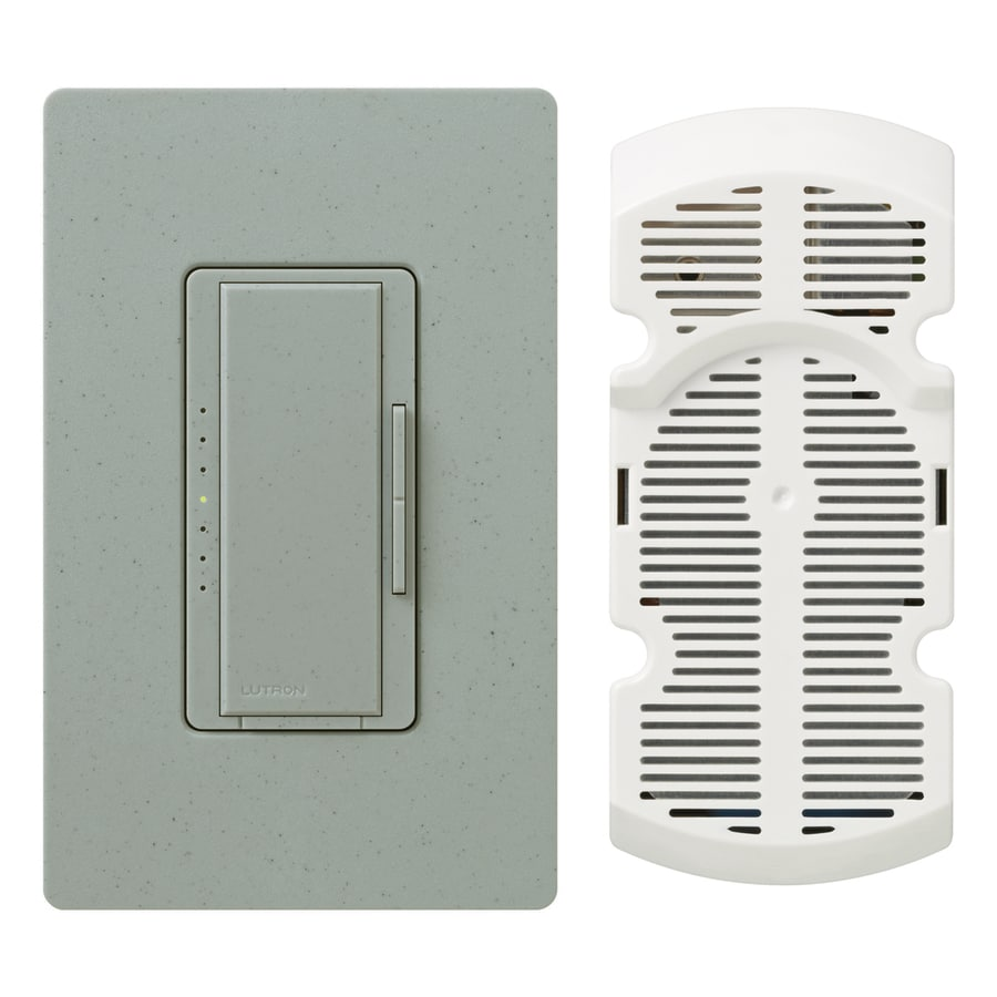 Lutron Maestro 7-Speed 1-Amp Bluestone Indoor Rocker Fan Control