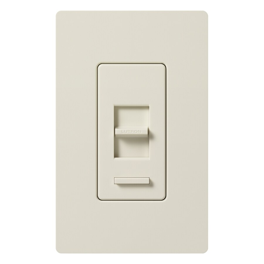 Lutron Lumea 600-Watt Single Pole Light Almond Indoor Dimmer