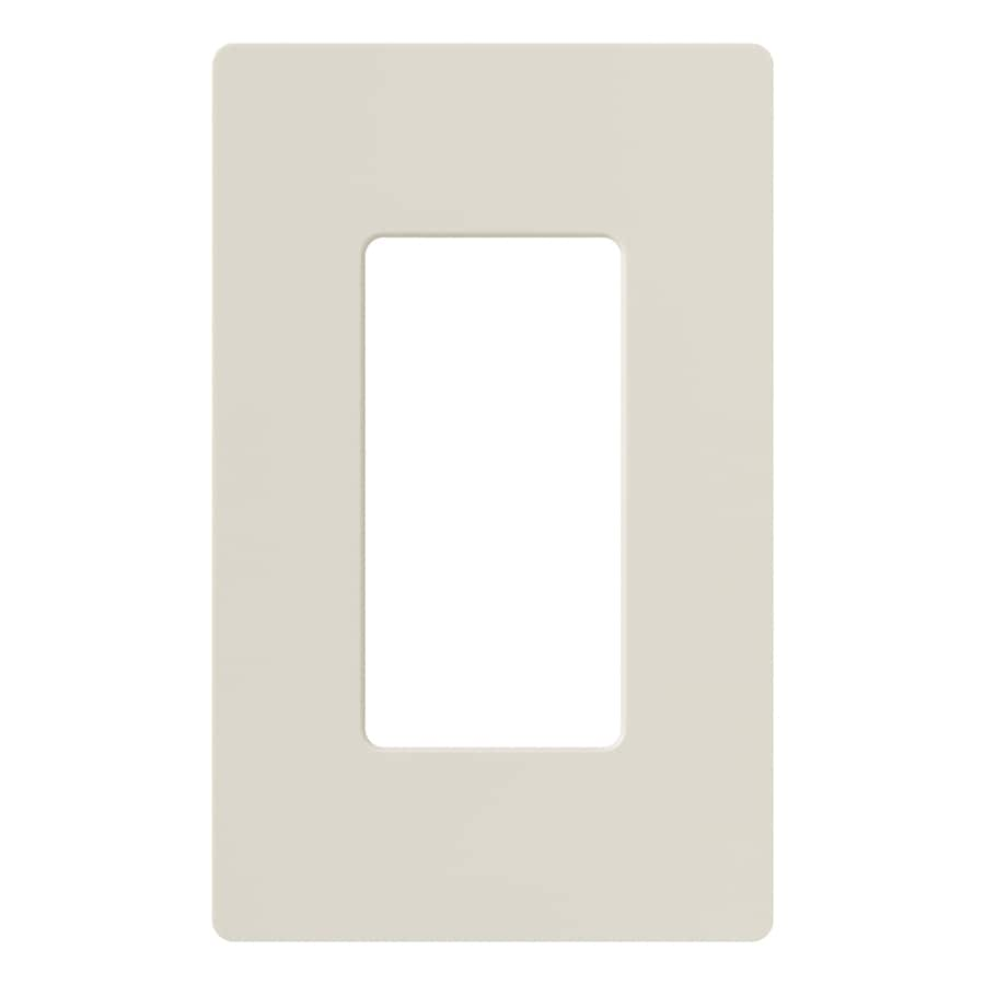 Lutron Claro 1-Gang Light Almond Single Decorator Wall Plate