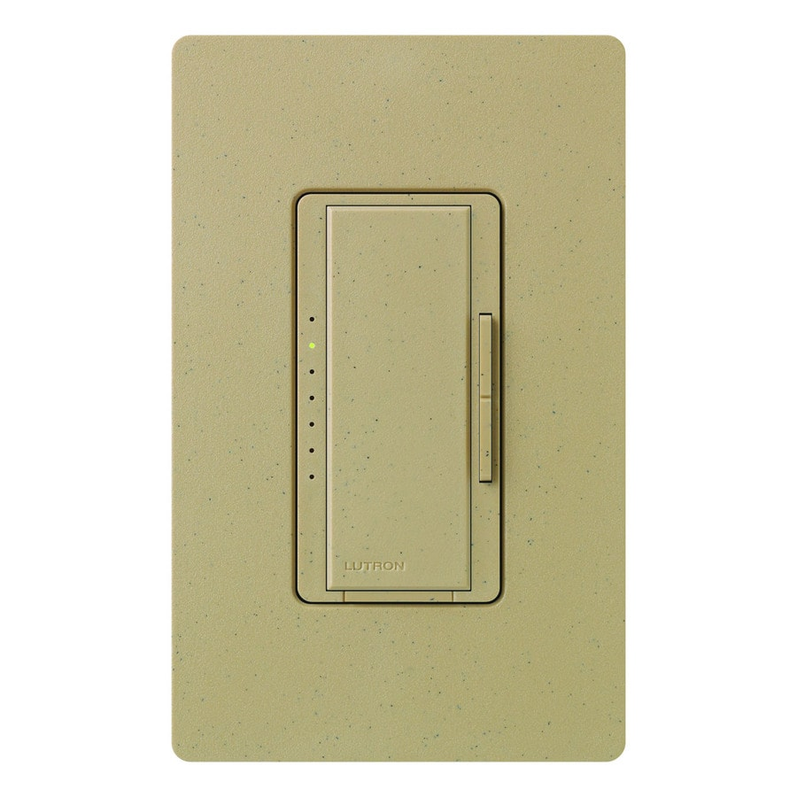 Lutron Maestro 600-Watt Single Pole Mocha Stone Indoor Touch Dimmer