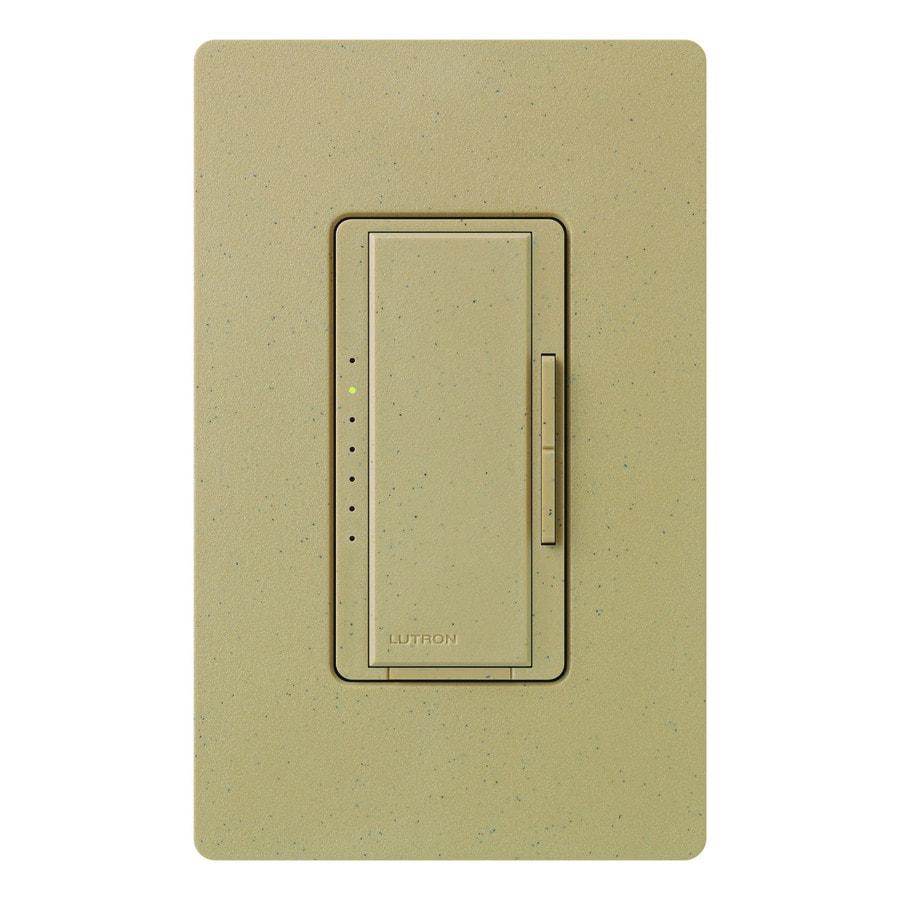 Lutron Maestro 600-Watt Single Pole Mocha Stone Touch Indoor Dimmer