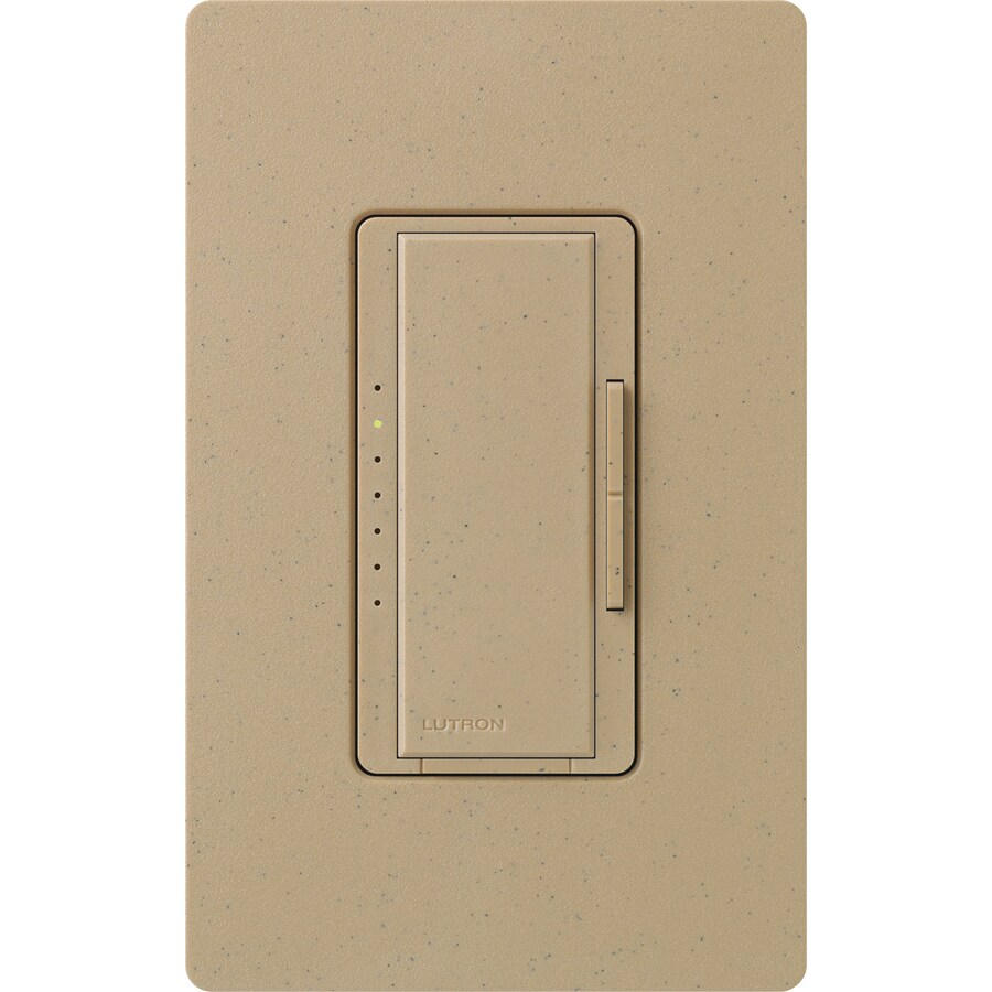 Lutron Maestro 800-Watt Single Pole Mocha Stone Indoor Touch Dimmer
