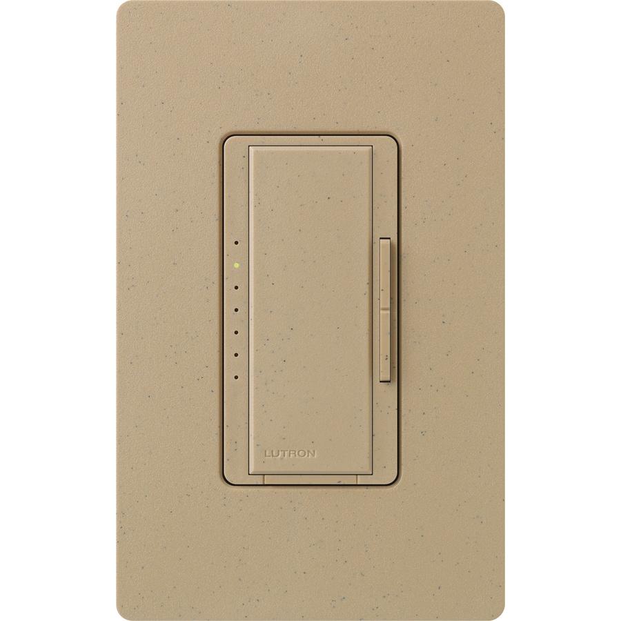 Lutron Maestro 800-Watt Single Pole Mocha Stone Touch Indoor Dimmer