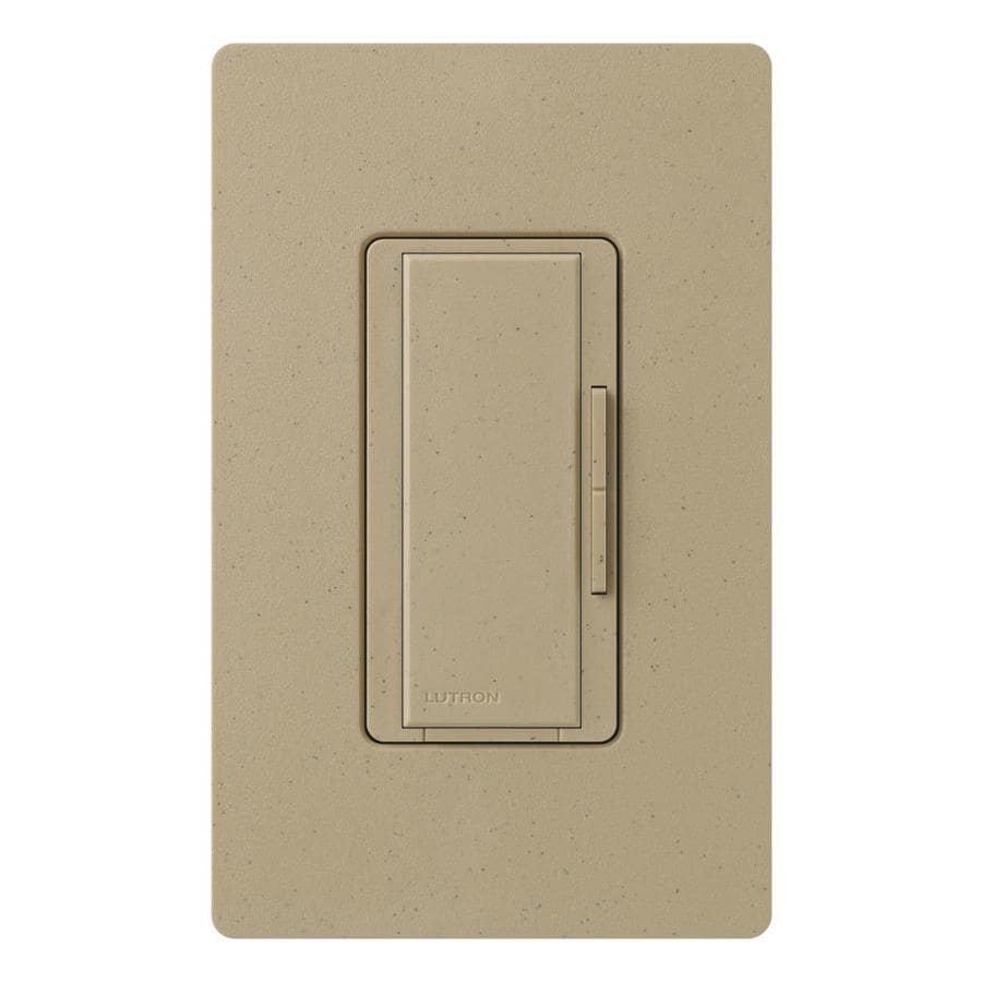 Lutron Maestro 1,000-Watt 3-Way/4-Way Mocha Stone Indoor Tap Dimmer