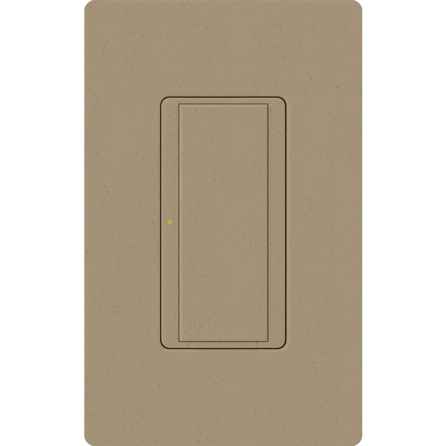 Lutron Maestro 8-Amp Single Pole 3-Way Mocha Stone Indoor Push Light Switch