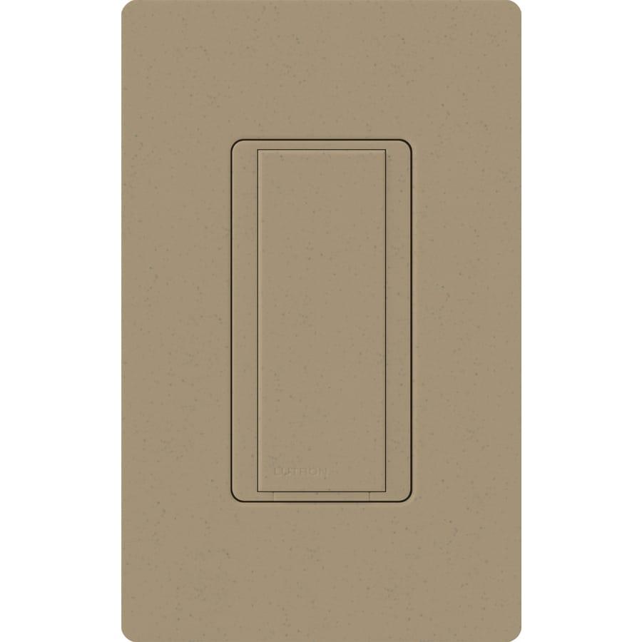 Lutron Maestro 8-Amp Single Pole 3-Way Mocha Stone Indoor Push Light Switch