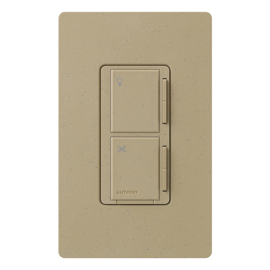 Lutron Maestro 300-Watt 3-Way/4-Way Mocha Stone Tap Indoor Combination Dimmer And Fan Control