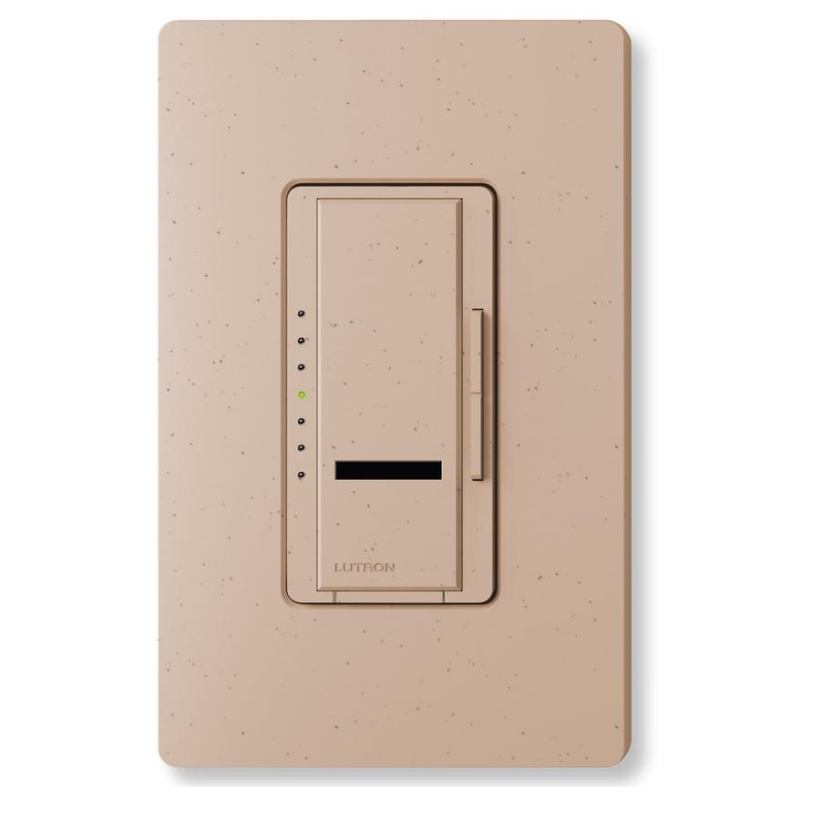 Lutron Maestro IR 1000-watt Single Pole Wireless Mocha Stone Remote Control Indoor Dimmer