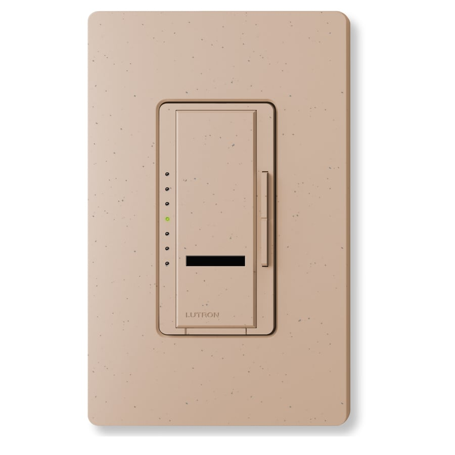Lutron Maestro IR 450-Watt Single Pole Wireless Mocha Stone Indoor Remote Control Dimmer