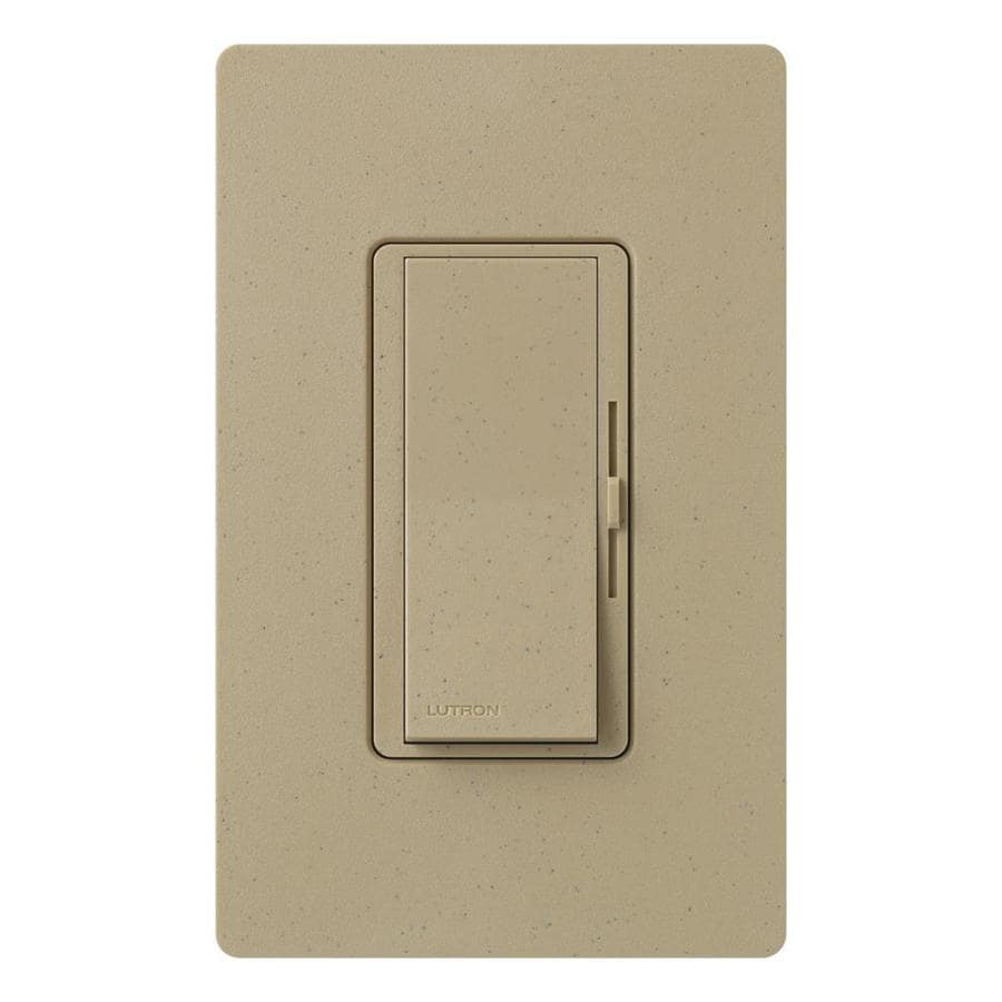 Lutron Diva 600-Watt Single Pole 3-Way Mocha Stone Indoor Dimmer