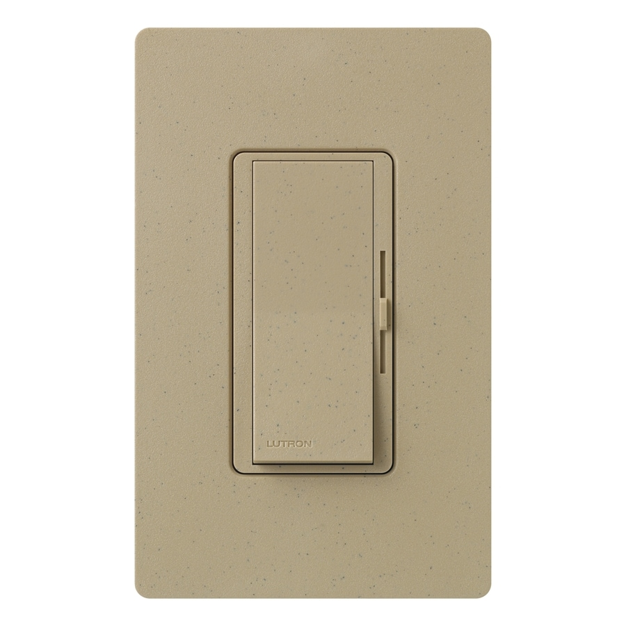 Lutron Diva 300-watt Single Pole Mocha Stone Indoor Dimmer