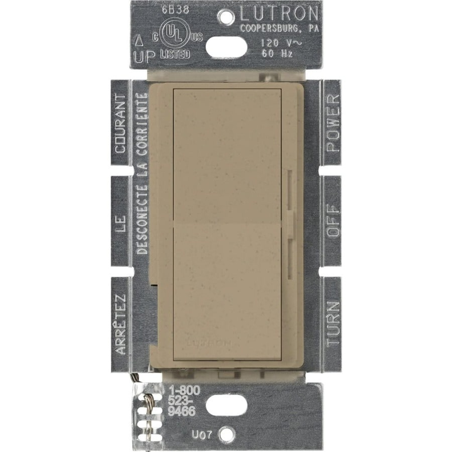Lutron Diva 450-watt Single Pole Mocha Stone Indoor Dimmer